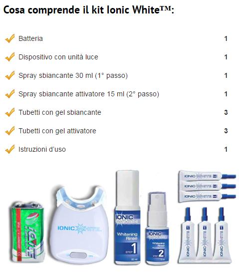 Ionic White™ kit sbiancamento denti led